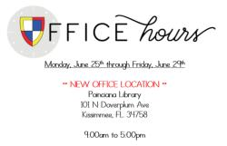 June 25-29 Office Hours
